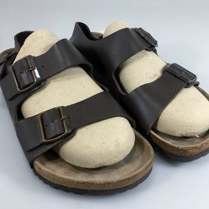Birkenstock Milano Sandals 42EU M9 W11 Brown